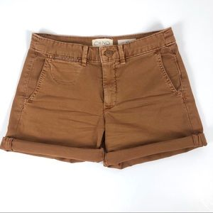 Anthropologie Relaxed Chino Shorts Brown Size 24